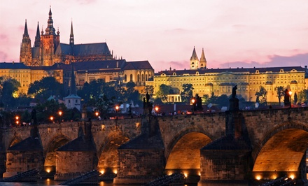 groupon daily deal - 8-Day Budapest and Prague Vacation with Round-Trip Airfare from Gate 1 Travel. Price/Person Based on Double Occupancy.