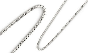 Italian Round Box Chain In Solid Sterling Silver