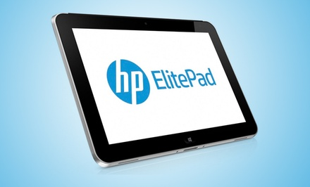 "groupon daily deal - HP ElitePad 10.1"" 64GB SSD Windows 8 Tablet with Griffin Stand and 2 Years of T-Mobile 4G Service. Free Returns."