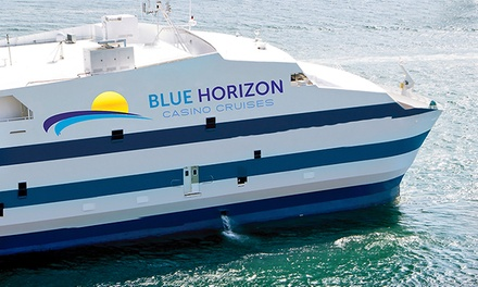 Boarding Pass with Casino Credit for Blue Horizon Casino Cruises (Up to 40% Off). Three Options Available.