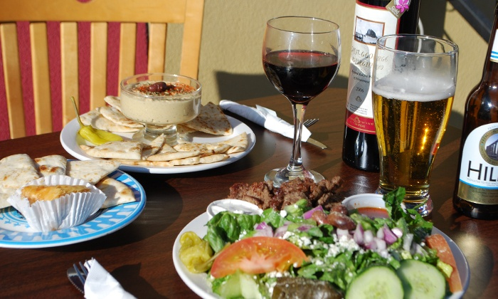 Melita's Greek Cafe & Market - Capitol Hill: Grecian Delight Combo Plate for Lunch or $20 Worth of Greek Dinner at Melita's Greek Café & Market (50% Off)