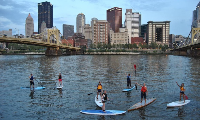 Sup3rivers - Multiple Locations: Stand Up Paddleboard Lesson and Rental from SUP3Rivers (Up to 53% Off). Three Options Available.