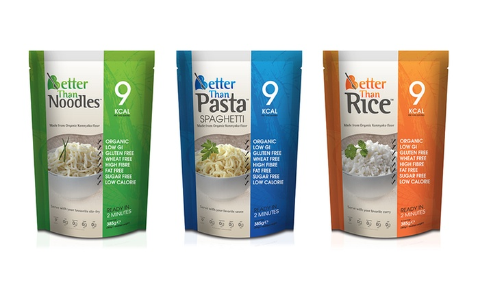 24 Packs of Low-Calorie Pasta, Noodles, Rice or Mixed for £29.99 With Free Delivery (67% Off)