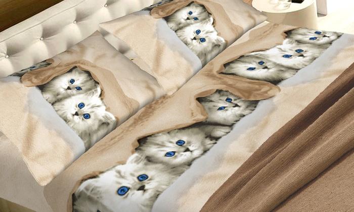 Lenzuola Matrimoniali Con Cani.Completo Lenzuola Con Animali Groupon Goods