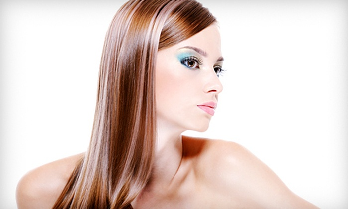 Pure Perfection Salon & Spa - Pelham: Haircut and Keratin Treatment with Option for Partial or Full Foils at Pure Perfection Salon & Spa (Up to 67% Off)