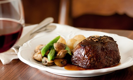 Two- or Three-Course Meal with Wine for Up to Four at Le Baron Brasserie (Up to 71% Off)