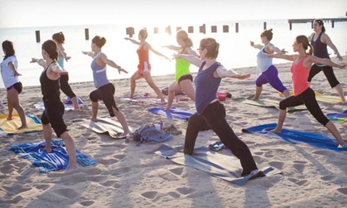 Beach Yoga or Season Pass - Sun & Moon Yoga | Groupon