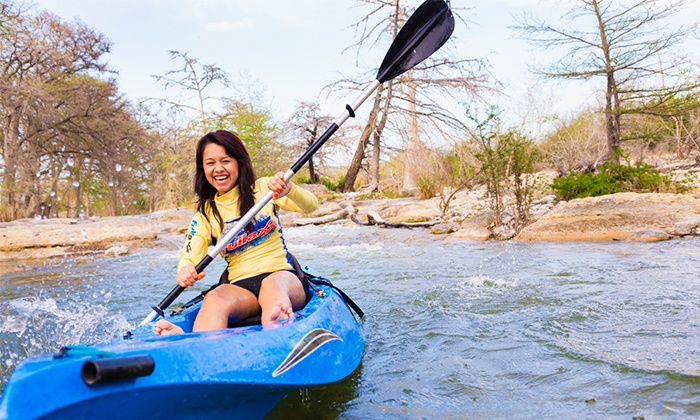 Josh's Frio River Outfitters - Multiple Locations: One or Two Two-Seater Kayak Rentals or Four Water Tube Rentals from Josh's Frio River Outfitters (Up to 55% Off)
