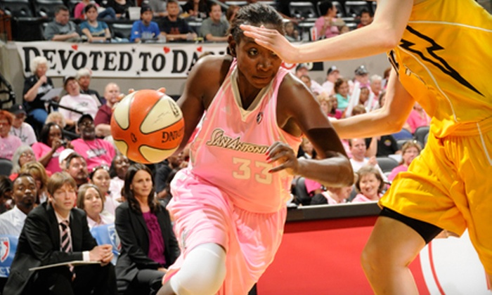 San Antonio Silver Stars - AT&T Center: San Antonio Silver Stars Game on Breast Cancer Awareness Night at AT&T Center on Saturday, August 17 (Up to 68% Off)