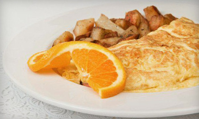 French Bakery Cafe - Vista: $15 for an Omelet Breakfast with Fruit and Drinks for Two at French Bakery Cafe ($31.70 Value)