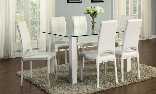 Tavolo da pranzo con sedie groupon goods for Tavolo con sedie soggiorno