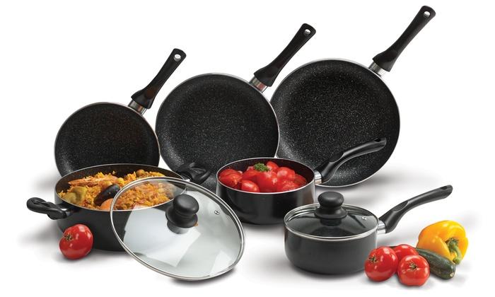 Batterie de cuisine 8 pièces Stone Chef coloris au choix à 3990 € (69% de rduction)