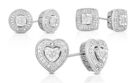 GROUPON: 1/10 CTTW Diamond Stud Earrings in Sterling Silver  1/10 CTTW Diamond Stud Earrings in Sterling Silver