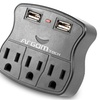 Argom 3-Outlet Surge Protector with Dual USB Ports (1- or 2-Pack)