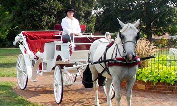Old Towne Carriages - Downtown Fredericksburg: $49 for a One-Hour Private Carriage Ride for Up to Four from Old Towne Carriages ($100 Value)