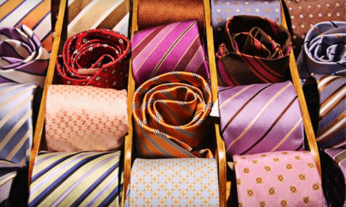 C Bespoke - Multiple Locations: Custom-Made Suit Package, Men's Custom-Made Vest or Trousers, or Three Ties  at C Bespoke (Up to 56% Off)