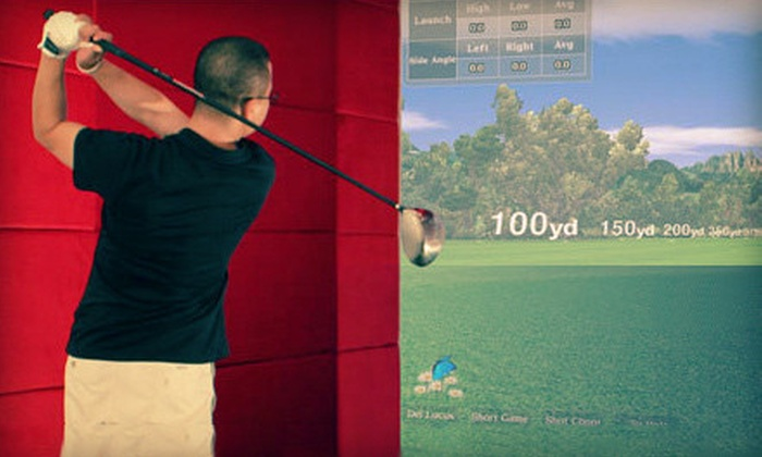 The OnGolf Club - Richmond Hill: Two- or Three-Hour Golf-Simulator Session and Swing Analysis for Up to Six at The OnGolf Club (Up to 68% Off)
