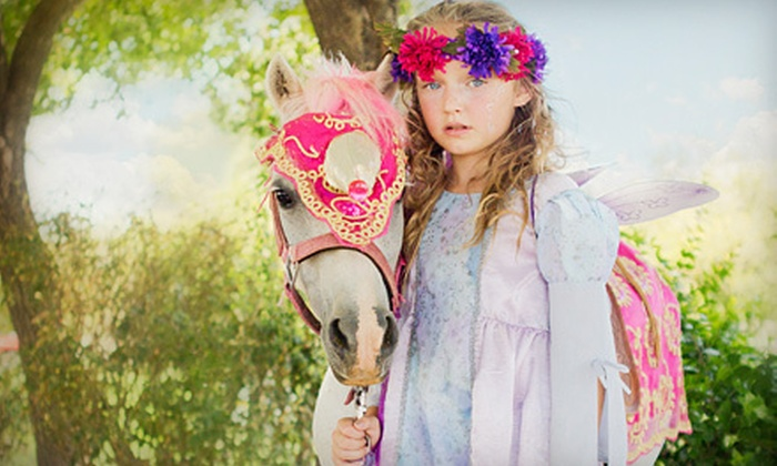 Charming Pony Parties - La Princessa Ranchitos: Two-Hour Kids' Party with Pony Rides and Petting Zoo at Charming Pony Parties (Up to 51% Off). Three Options Available.