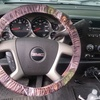 Camo Scrunchie Steering-Wheel Cover