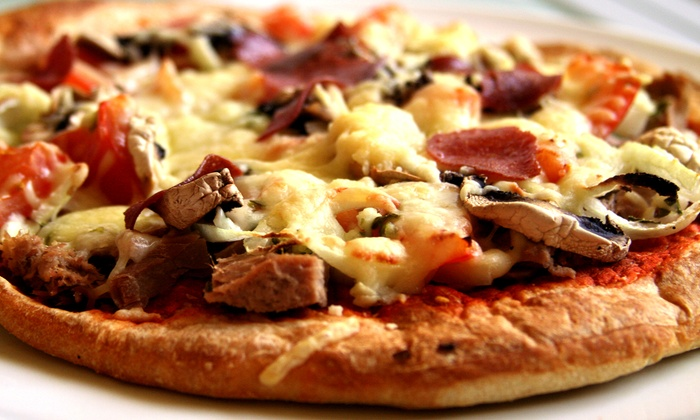 Mangieri's Pizza Café - Multiple Locations: $8 for $16 Worth of Pizza, Pasta, and Sandwiches at Mangieri's Pizza Café