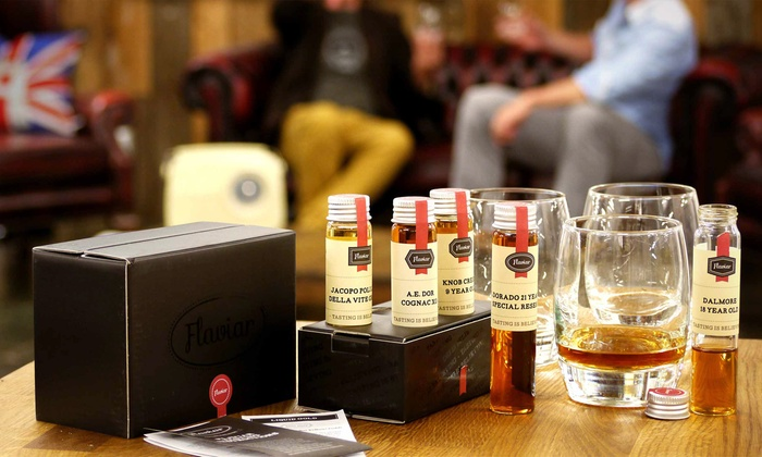 Flaviar - South Beach: Whiskey or Rum Tasting Pack Plus $10 Credit at Flaviar (50% Off)