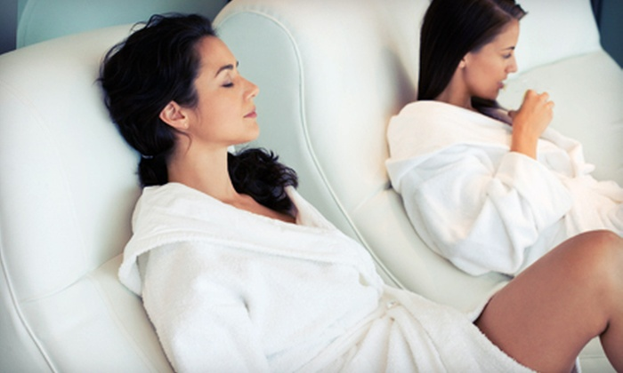 Shear Bliss Salon and Day Spa - Colonial Townpark: $134 for Spa Package with Massage, Manicure, and Pedicure for Two at Shear Bliss Salon and Day Spa (Up to $280 Value)