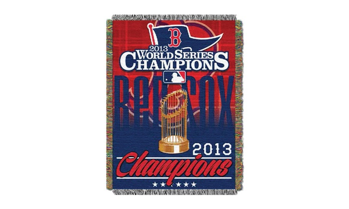 "Boston Red Sox 2013 MLB World Series Champion 48""x60"" Tapestry Throw: Boston Red Sox 2013 MLB World Series Champion 48""x60"" Tapestry Throw. Free Shipping and Returns."