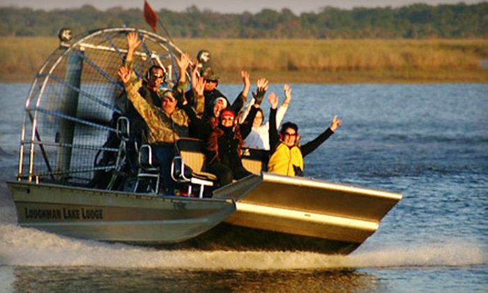 Loughman Lake Lodge - Titusville: 75-Minute Airboat Tour for Two or Four from Loughman Lake Lodge in Mims (Up to 53% Off)
