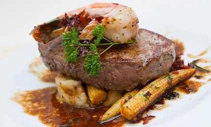 image for Two-Course Steak Dinner for Two or Four at Surf and Turf Sheffield (Up to 56% Off)