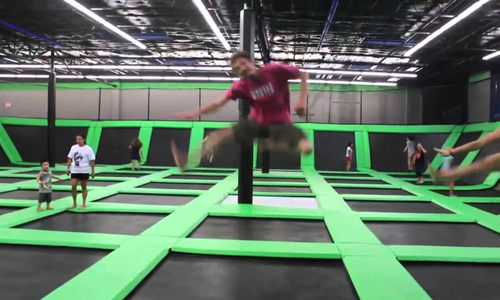 Clublife Health & Fitness - Kinderhook: 120 Minutes of Trampoline-Park Open-Jump Time at ClubLife SportsZone (44% Off)