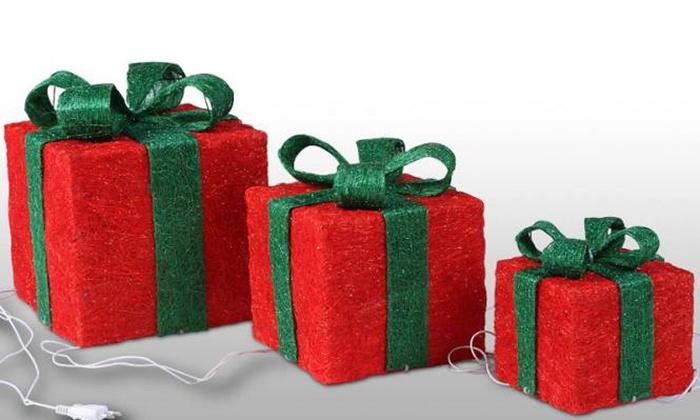 Immagini Pacchi Di Natale.Pacchi Di Natale Luminosi A 29 90 7 Di Sconto