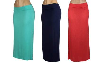 Women's Plus-Size Maxi Skirt