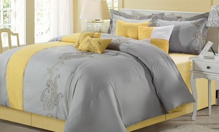 8-Piece Embroidered Comforter Set. Multiple Styles Available. Free Returns.