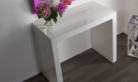 Consolle tavolo allungabile fino a 3 metri in 2 colori for Tavolo allungabile fino a 3 metri