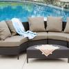 Venice Outdoor 5-Piece Wicker Sectional Sofa