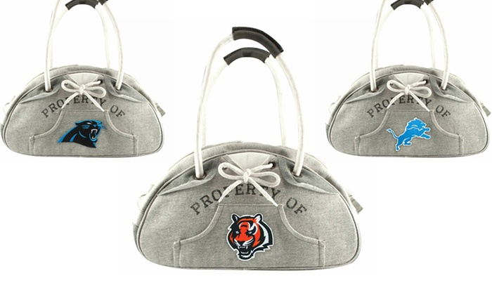 NFL Hoodie Bowler Handbag: NFL Hoodie Bowler Handbag. Multiple Teams Available. Free Shipping and Returns.