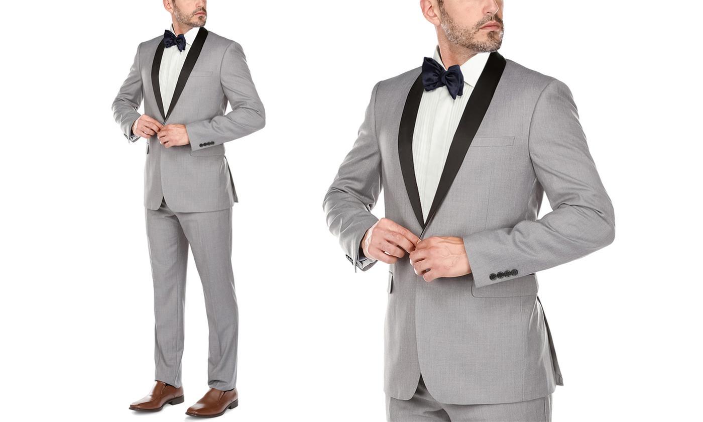 Verno Men's Slim-Fit Shawl Lapel Tuxedo (2-Pc)