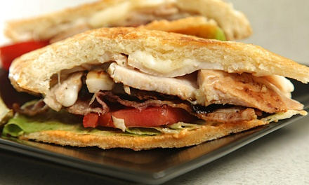 $10 for Two Groupons, Each Good for $10 Worth of Paninis and Crepes at Panini Factory ($20 Value)