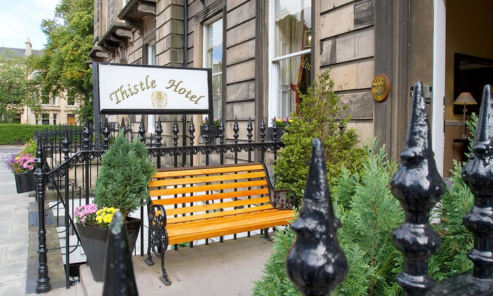 Ste Edinburgh Thistle Hotel Accommodation 1 Night For Two