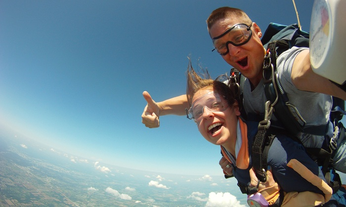 Skydive Warren County - Wayne: Tandem Skydive for One or Two with Optional Video at Skydive Warren County (Up to 47% Off)