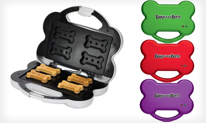 $24.99 for a Bake-A-Bone Dog Treat Maker and Treat Mix
