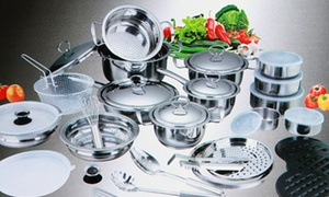 Limited Stock: 40-Piece Stainless Steel Pot Set
