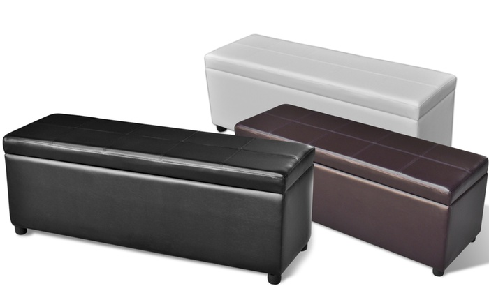 banquette coffre de rangement groupon shopping. Black Bedroom Furniture Sets. Home Design Ideas