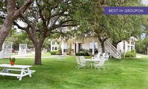2-Night Texas Hill Country Wine Getaway at Serenity Farmhouse Inn, plus 6.0% Cash Back from Ebates.
