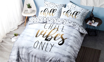 Pieridae Slogan Duvet Set in Choice of Design