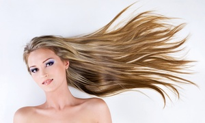 JS Salon: Haircut, Style, and Conditioning with Options for Partial or Full Highlights with Toner at JS Salon (Up to 58% Off)