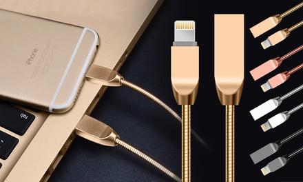 Zinklegiertes Lightning USB Kabel für iPhones in der Farbe nach Wahl