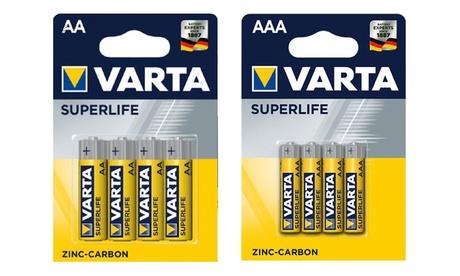 16, 32 o 64 pilas mini stylus AA o AAA 1,5 V de la marca Varta