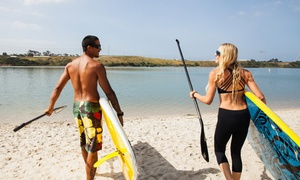 The Zu Boardsports: Stand-Up Paddleboard Hire: Weekday for One ($10) or Weekend for Two People ($29) at The Zu Boardsports (Up to $50 Value)