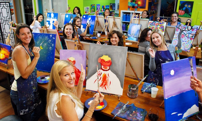A Painting Fiesta - Weston - Weston: $27 for One 2.5 Hour Painting Class at A Painting Fiesta ($45 Value)